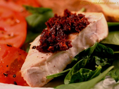 Swordfish with Sun-dried Tomato Pesto