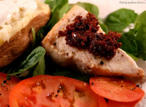 Sun-dried Tomato Pesto with Swordfish