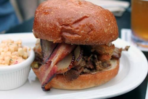 carnitas triple threat sandwich